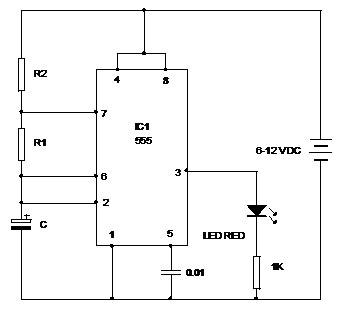 IC 555 Astable Mode Mohans Electronics Blog