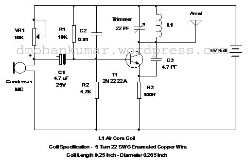 single transistor fm transmitter design \u2013 mohan\u0027s electronics blogSimple Fm Transmitter With A Single Transistor By 2n2222 #4