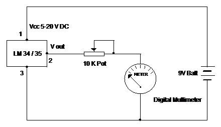 LM 34/35 Temperature Sensors   electronics hobby