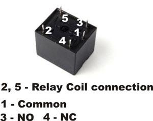 Relay Electronics Hobby - Circuit diagram of 5 pin relay