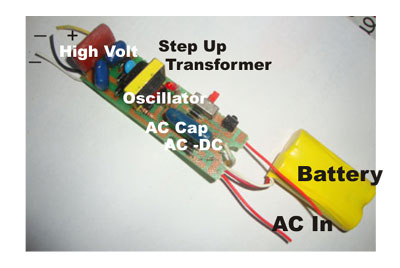 Electronic Mosquito Repellent moreover Electric Bug Zapper Diagram additionally Watch also 3v To High Voltage Inverter as well Howtodosteps blogspot. on mosquito bug zapper circuit diagram