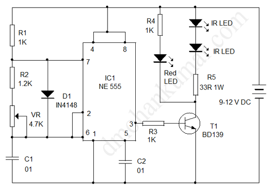 circuit for ir transmitter and receiver