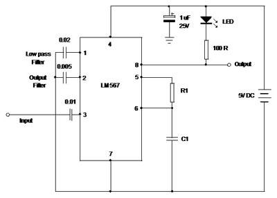 design your circuit part v pll tone decoder mohan s electronics rh dmohankumar wordpress com Peak Detector Circuit Peak Detector Circuit