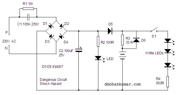 Ac Dc Emergency Lamp Utility Gadgets 11 Mohan S