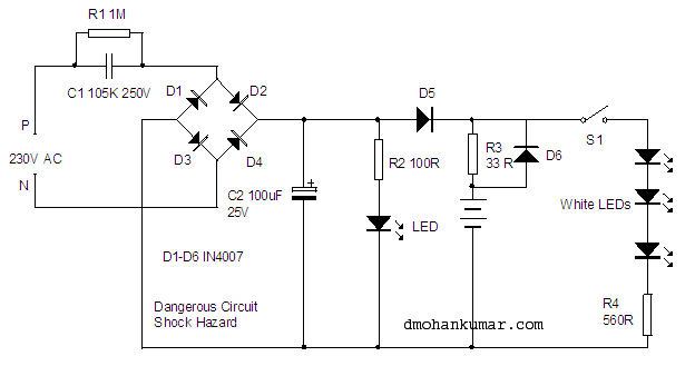 [SCHEMATICS_49CH]  AC-DC Emergency Lamp. Utility Gadgets.11 – Mohan's electronics blog | Ac Dc Light Wiring |  | Mohan's electronics blog - WordPress.com