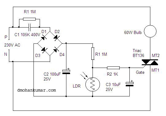 Strange Automatic Porch Light Utility Gadget 14 Mohans Electronics Blog Wiring 101 Sianudownsetwise Assnl