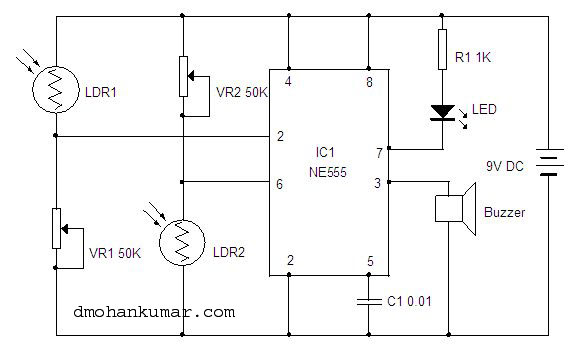 Movement Detector. Sensor Circuit.4 | Mohan\'s electronics blog