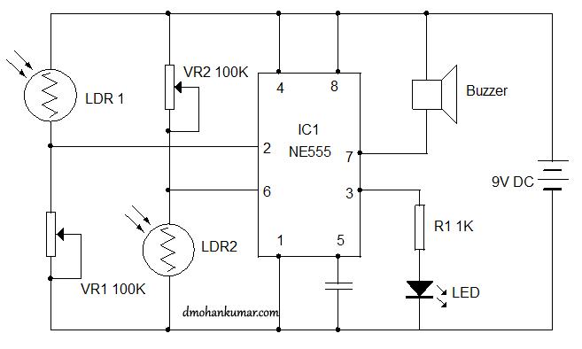 flip flop control using ldr sensor circuit 10 \u2013 mohan\u0027s pir sensor astable multivibrator using 555 timer