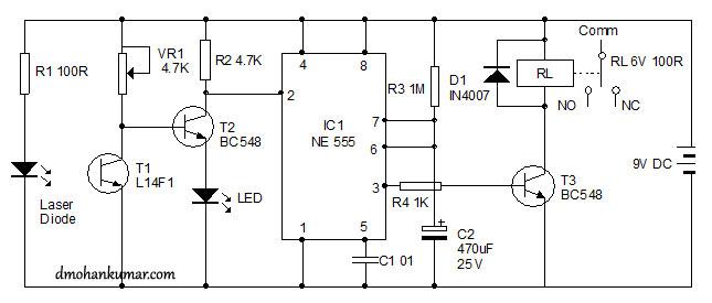 Laser Based Alarm System  Sensor Circuit 17