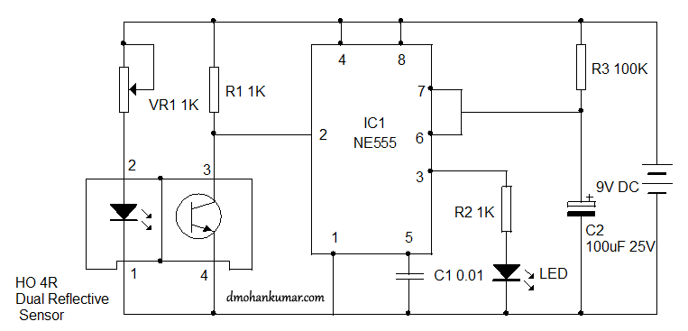 proximity sensor using ho r sensor sensor circuit  when