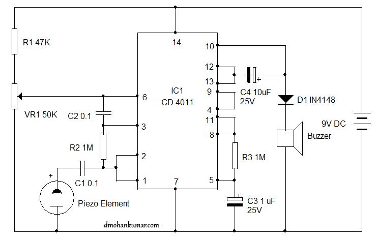 vibration alarm using piezoelement sensor circuit 15 \u2013 mohan\u0027sconnect the piezoelement with the circuit