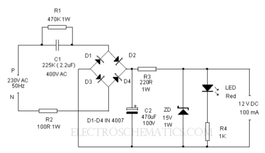 ac to dc converter circuit diagram out transformer ac selection and use of capacitors circuit clinic 2 electronics hobby on ac to dc converter circuit