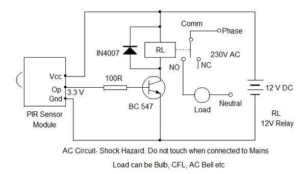 Steinel Pir Wiring Diagram likewise 3 Beam Ir Beam Motion Detector as well Rcwl 0516 Microwave Radar Sensor additionally PIC Basic Interfacing Motion Detector PIR SE 10 in addition Waspmote. on motion detector circuit diagram