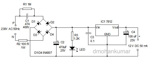 无变压器 - 电源