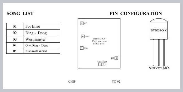 IC8031-Songs-and-Pinout