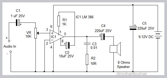 reducing hiss in lm 386 amplifier  design note 12