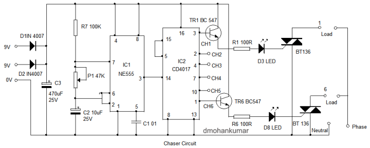 Lamp-Chaser-Circuit