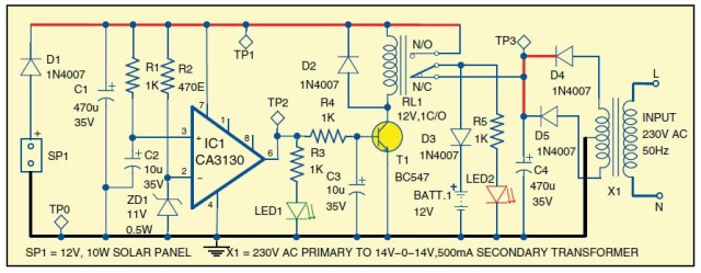 Hybrid-Solar-Charger-Circui