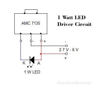 1-W-LED-DRIVER-CIRCUIT