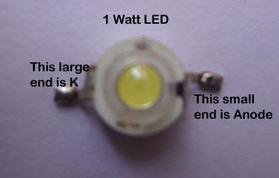 1瓦特LED引脚