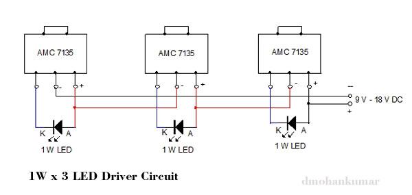 1W-3-LED驱动电路