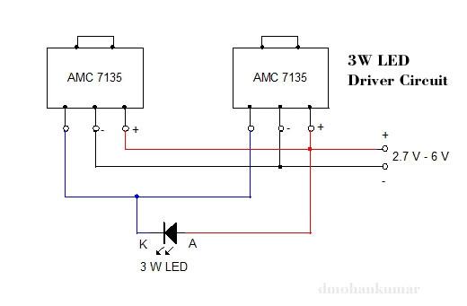 3 W-LED驱动器电路