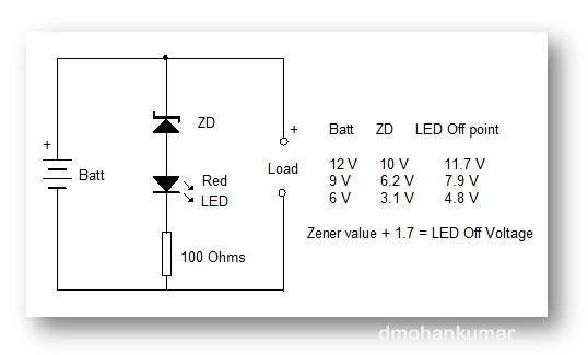 battery charge indicator simple design 5 \u2013 mohan\u0027s electronics blogbattery charging reminder