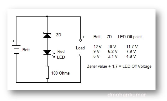 Battery Charge Indicator Simple Design 5 Mohan S Electronics Blog