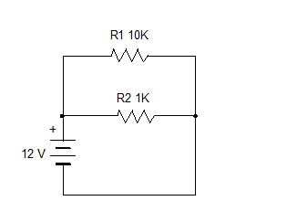 ohms law and voltage through resistor  simple design 2