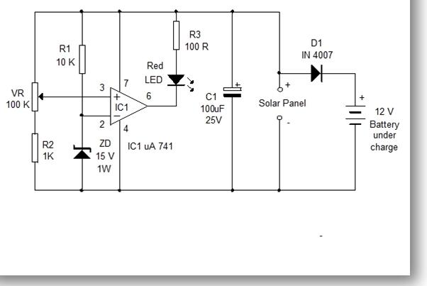 Solar Panel Voltage Monitor Circuit