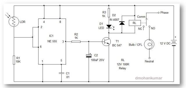 Sunset Lamp. Design Note 45 | Mohan\'s electronics blog