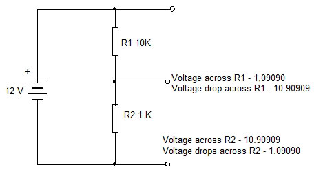 VOLTAGE-DROP-THROUGH-RESIST