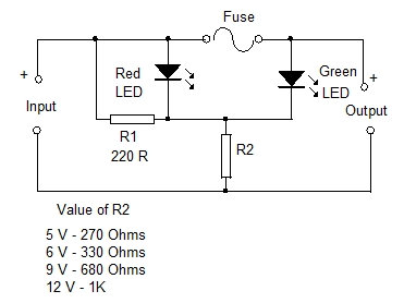 blown fuse indicators simple design 10 electronics hobby rh dmohankumar wordpress com fuse in a circuit diagram fuse in a electric circuit