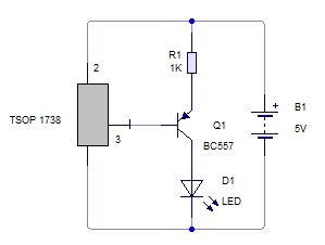 tsop 1738 \u2013 mohan\u0027s electronics bloga simple circuit to test the tv remote whether it is working or not tv remote uses infrared led to emit pulsed ir rays which are invisible to human eye
