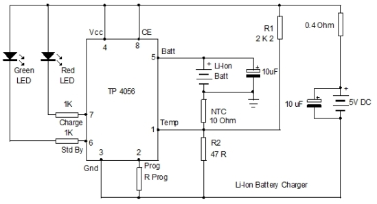 LITHIUM ION CHARGER CIRCUIT
