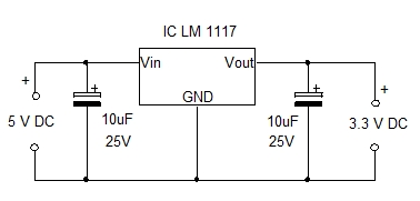 LM1117 Voltage Regulator Circuit
