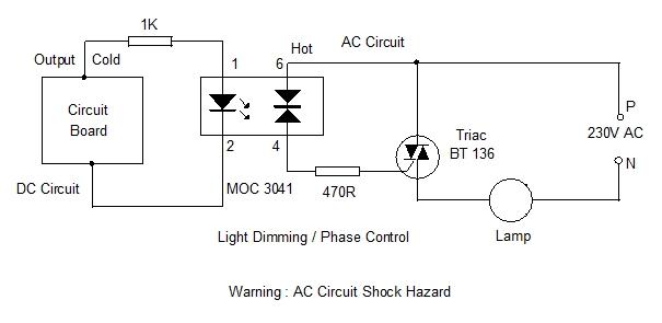 MOC 3041 Circuit