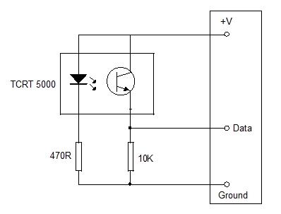 TCRT 5000 Optoreflective sensor