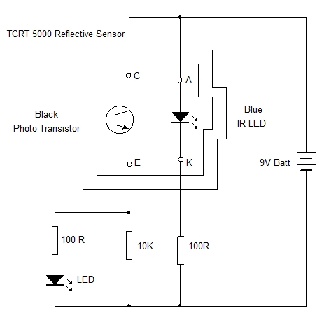 TCRT 5000 Test Circuit
