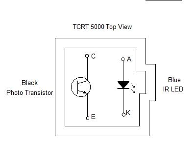 TCRT 5000 Top view