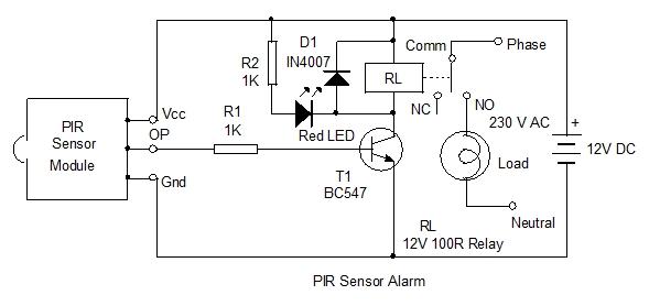 pir light switch  home utility circuit 3  u2013 mohan u0026 39 s electronics blog