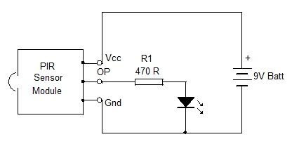 pir light switch home utility circuit 3 mohan s electronics blog rh dmohankumar wordpress com Infrared Motion Sensor Circuit Diagram LED Sensor Circuit