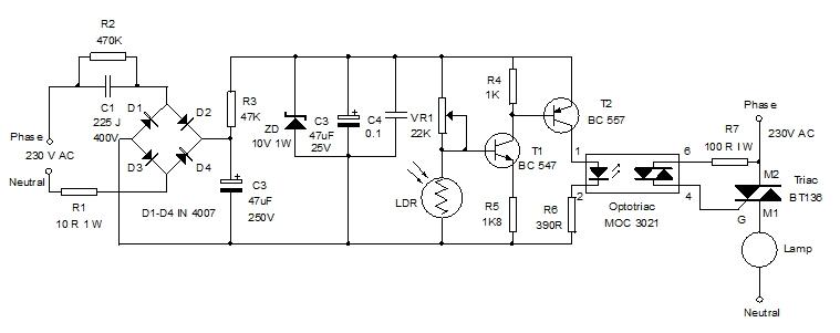 automatic lighting system home utility circuit 6 mohan s rh dmohankumar wordpress com