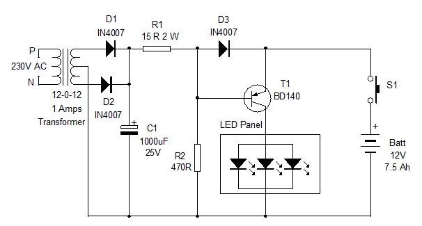 LED PANEL LIGHT CIRCUIT