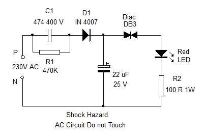 MAINS FLASHER CIRCUIT