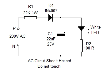 MAINS INDICATOR CIRCUIT