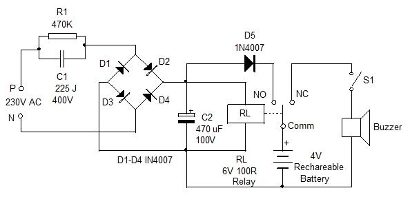 power failure alarm circuit?w\\\\\\\=760 mains failure alarm circuit electronic circuits and diagram wiring
