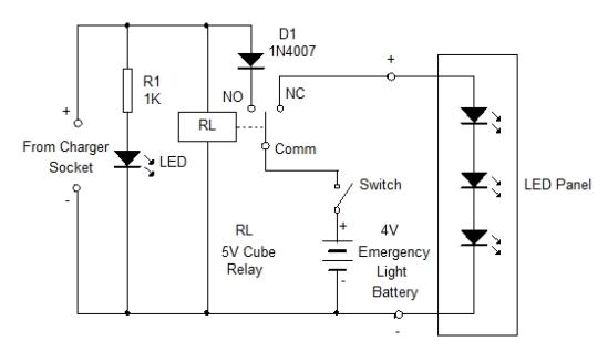 Relay for LED Emergency Light