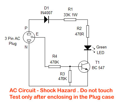 three pin socket tester home utility circuit 19 mohan s rh dmohankumar wordpress com Receptacle Tension Tester Ceiling Fan Pull Switch Wiring