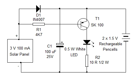 Mini Solar Light Home Utility Circuit 5 on solar battery charger circuit diagram